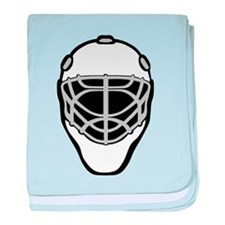 White Goalie Mask baby blanket