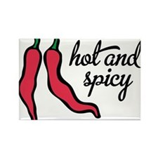 hot and spicy Rectangle Magnet