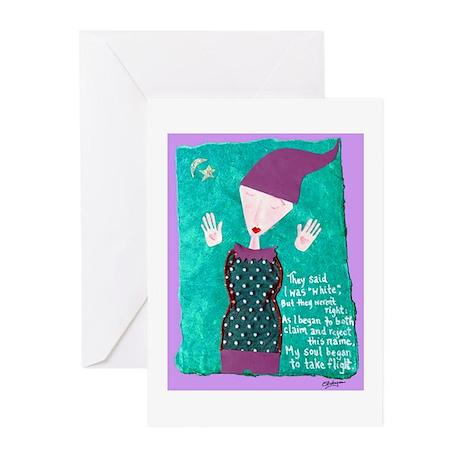 White Soul Flight Greeting Cards (Pk of 10)