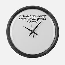 Cute Shall Large Wall Clock