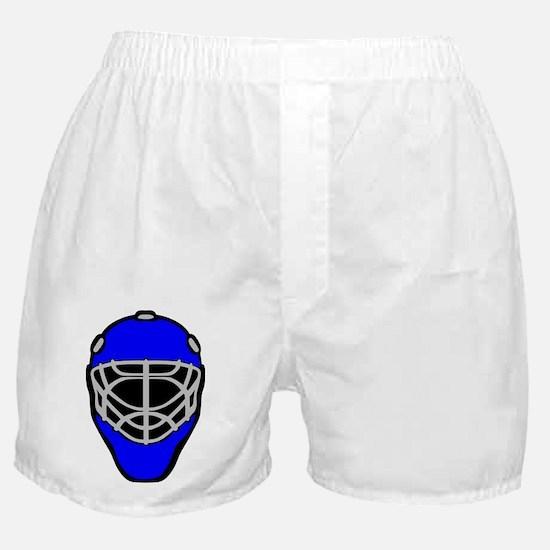 Blue Goalie Mask Boxer Shorts