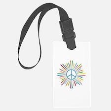 Peace Symbol Star Luggage Tag