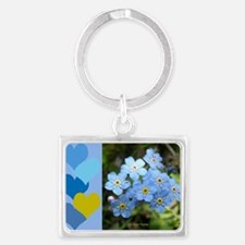 Forget-Me-Not Landscape Keychain