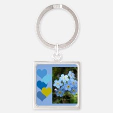 Forget-Me-Not Square Keychain