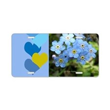 Forget-Me-Not Aluminum License Plate