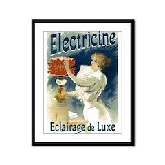 Vintage Poster Art Electricine Framed Panel Print