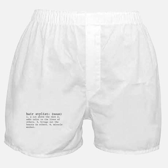 hair stylist definition Boxer Shorts