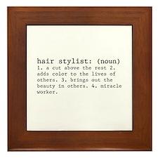 hair stylist definition Framed Tile