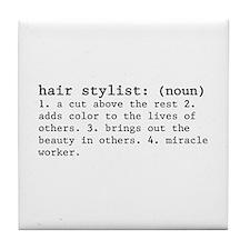 hair stylist definition Tile Coaster