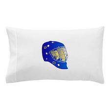 Blue Goalie Mask Pillow Case