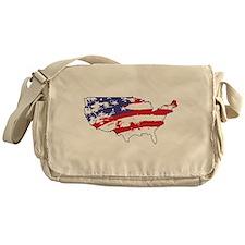 4th July USA Flag Messenger Bag
