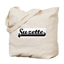 Black jersey: Suzette Tote Bag