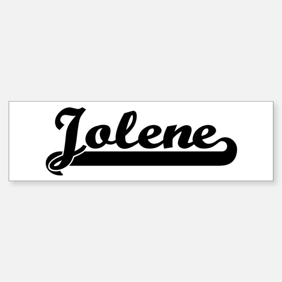 Black jersey: Jolene Bumper Bumper Bumper Sticker