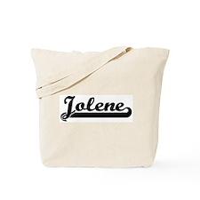 Black jersey: Jolene Tote Bag