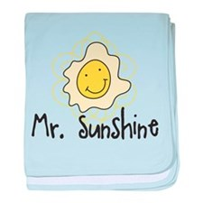Mr. Sunshine baby blanket