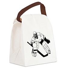 Ice Hockey Goalie Canvas Lunch Bag
