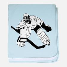 Ice Hockey Goalie baby blanket