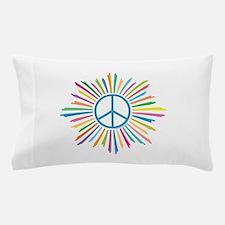 Peace Symbol Star Pillow Case