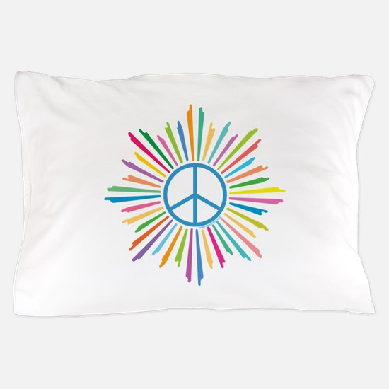 Peace Symbol Star Pillow Case