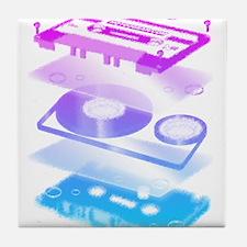 Exploded Cassette Tape Tile Coaster