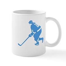 Blue Ice Hockey Player Mug