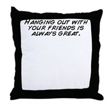 Cute Hanging with friends Throw Pillow