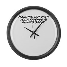 Cute Hanging with friends Large Wall Clock