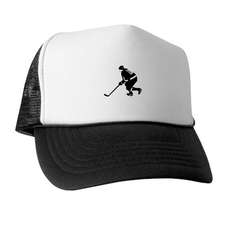 Ice Hockey Player Trucker Hat