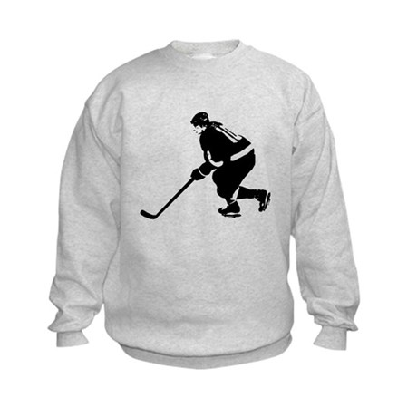 Ice Hockey Player Kids Sweatshirt