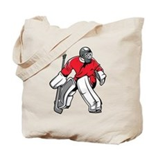 Ice Hockey Goalie Tote Bag
