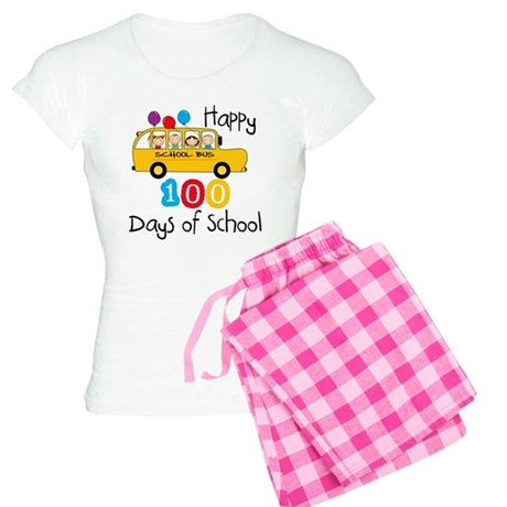School Bus Celebrate 100 Days Women's Light Pajama