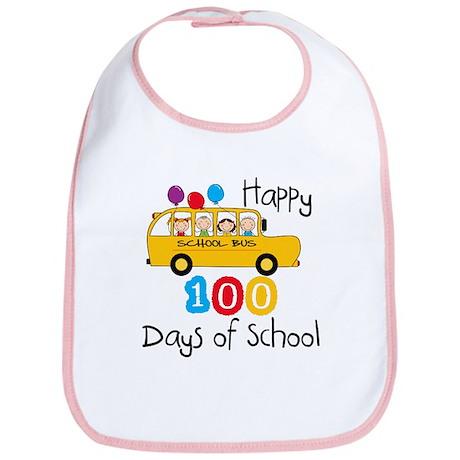 School Bus Celebrate 100 Days Bib