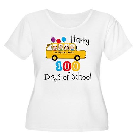 School Bus Celebrate 100 Days Women's Plus Size Sc