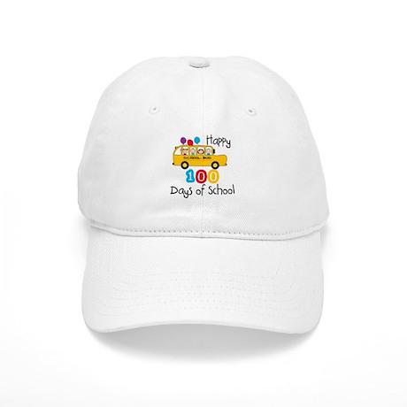 School Bus Celebrate 100 Days Cap