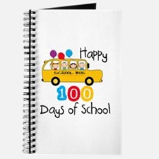 School Bus Celebrate 100 Days Journal