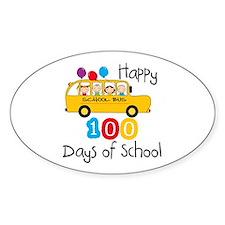 School Bus Celebrate 100 Days Decal