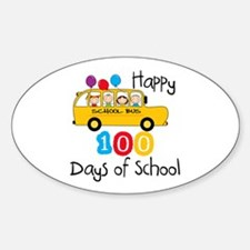School Bus Celebrate 100 Days Decal