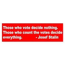 Josef Stalin Bumper Bumper Sticker