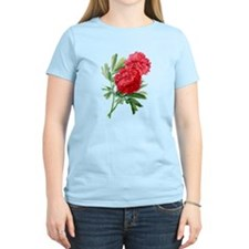 Red Peonies Drawn From Nature T-Shirt