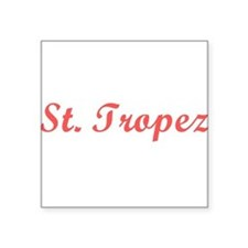 "St. Tropez Square Sticker 3"" x 3"""