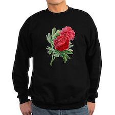 Red Peonies Drawn From Nature Sweatshirt