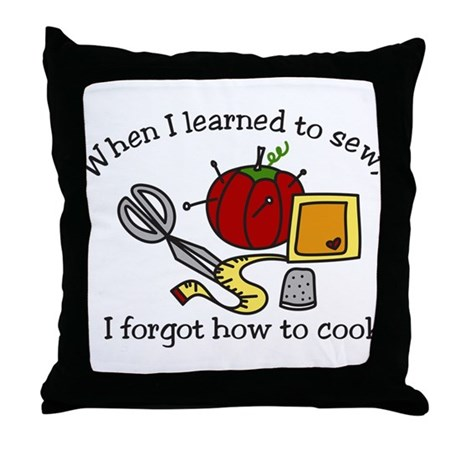 When I Learned Throw Pillow