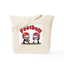 Football Penguins Tote Bag