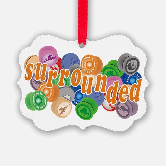Surrounded by Yo-Yos Ornament