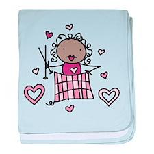 Knitter baby blanket
