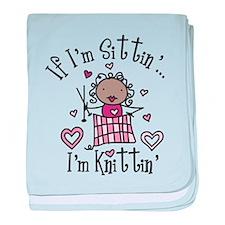 I'm Knittin' baby blanket