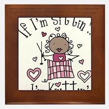 I'm Knittin' Framed Tile