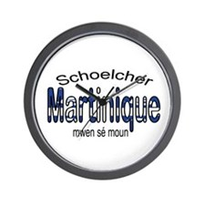 Schoelcher Martinique Wall Clock