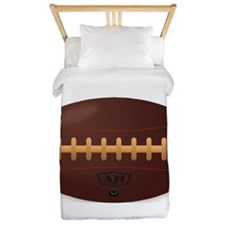 Brown Retro Football Twin Duvet