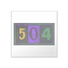 NOLA 504 Square Sticker